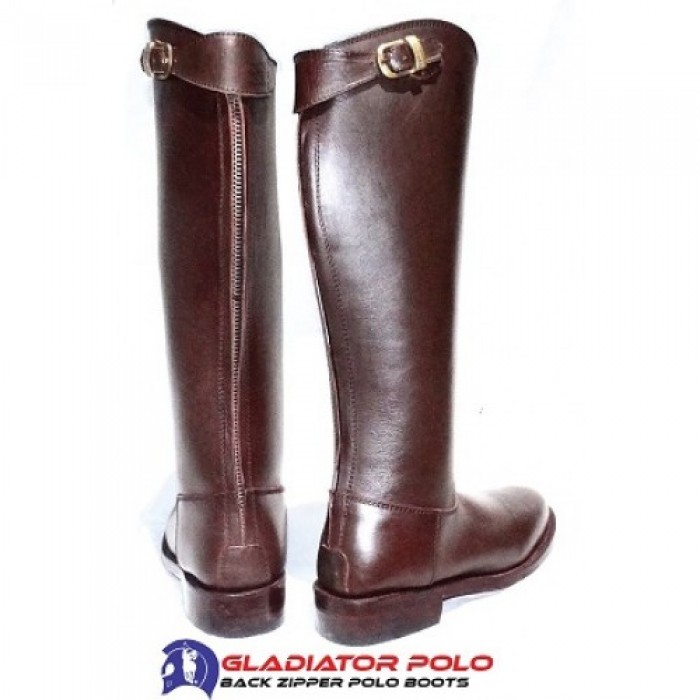 Back Zipper Polo Boots