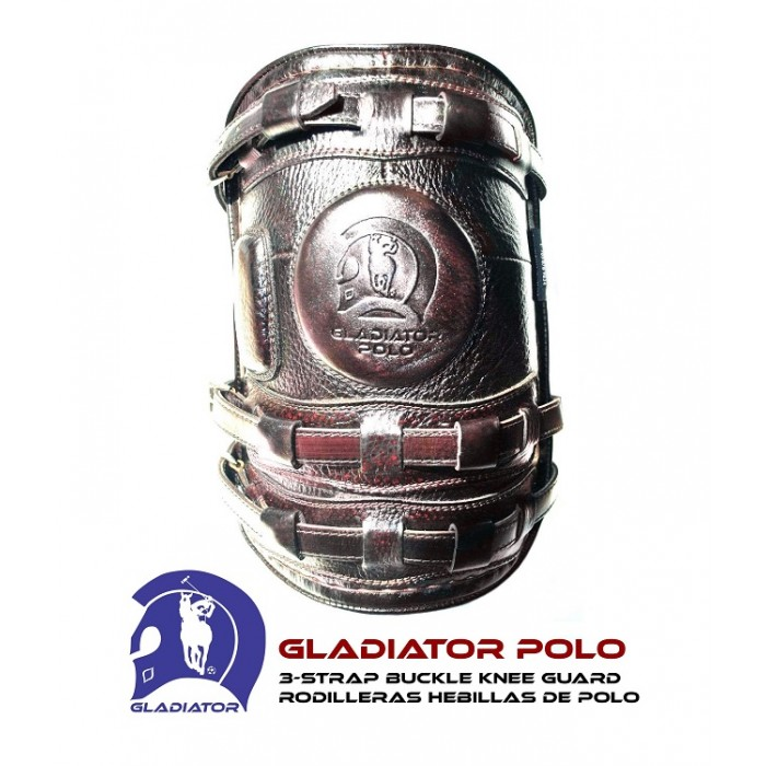 3-Strap Buckle Polo Knee Guards