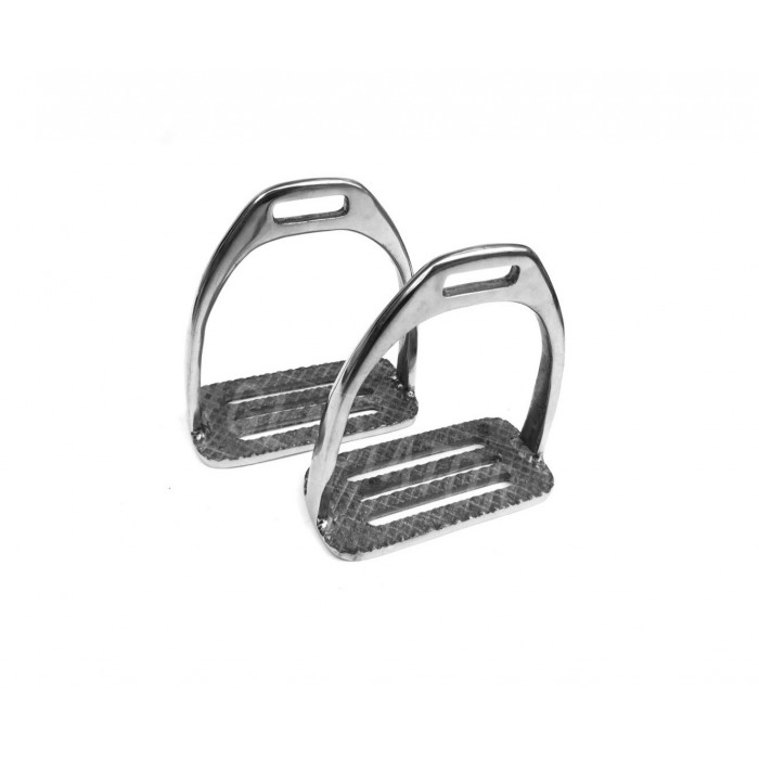 Polo Stirrups Wide Stainless Steel