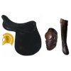 Custom Polo Boots, Knee Guards and Polo Saddle, Polo Bridle, Polo Tack, Polo Stirrup Leathers | Buffalo Leather