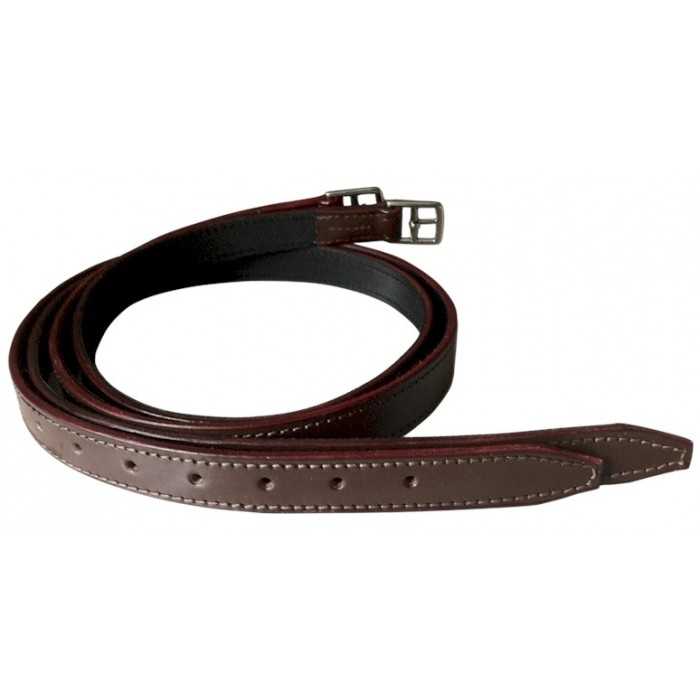 Polo Stirrup Leathers - Nylon Lined Buffalo Leather
