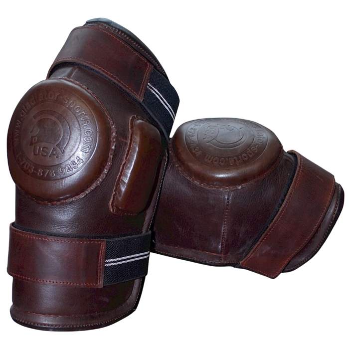 2-Strap Velcro Polo Knee Guards - Large
