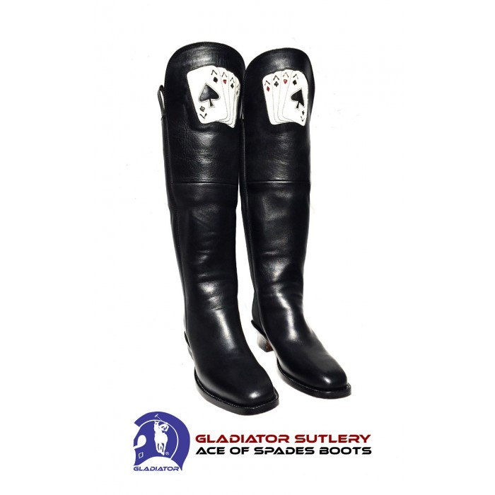 Ace of Spades Civil War Cavalry Boots